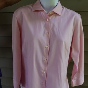 3/4th Sleeve Blouse Pink Lands End
